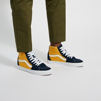 Men's Sk8-Hi Sneakers in Navy Blue/Yellow