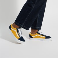 Men's Old Skool Sneakers in Navy Blue/Yellow