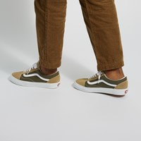 Men's Old Skool Sneakers in Beige/Olive Green