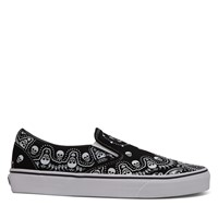 Men's Slip-on Bandana Sneakers in Black/White