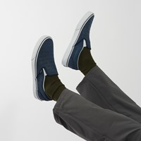 Men's Slip-On Deboss OTW Sneakers in Navy