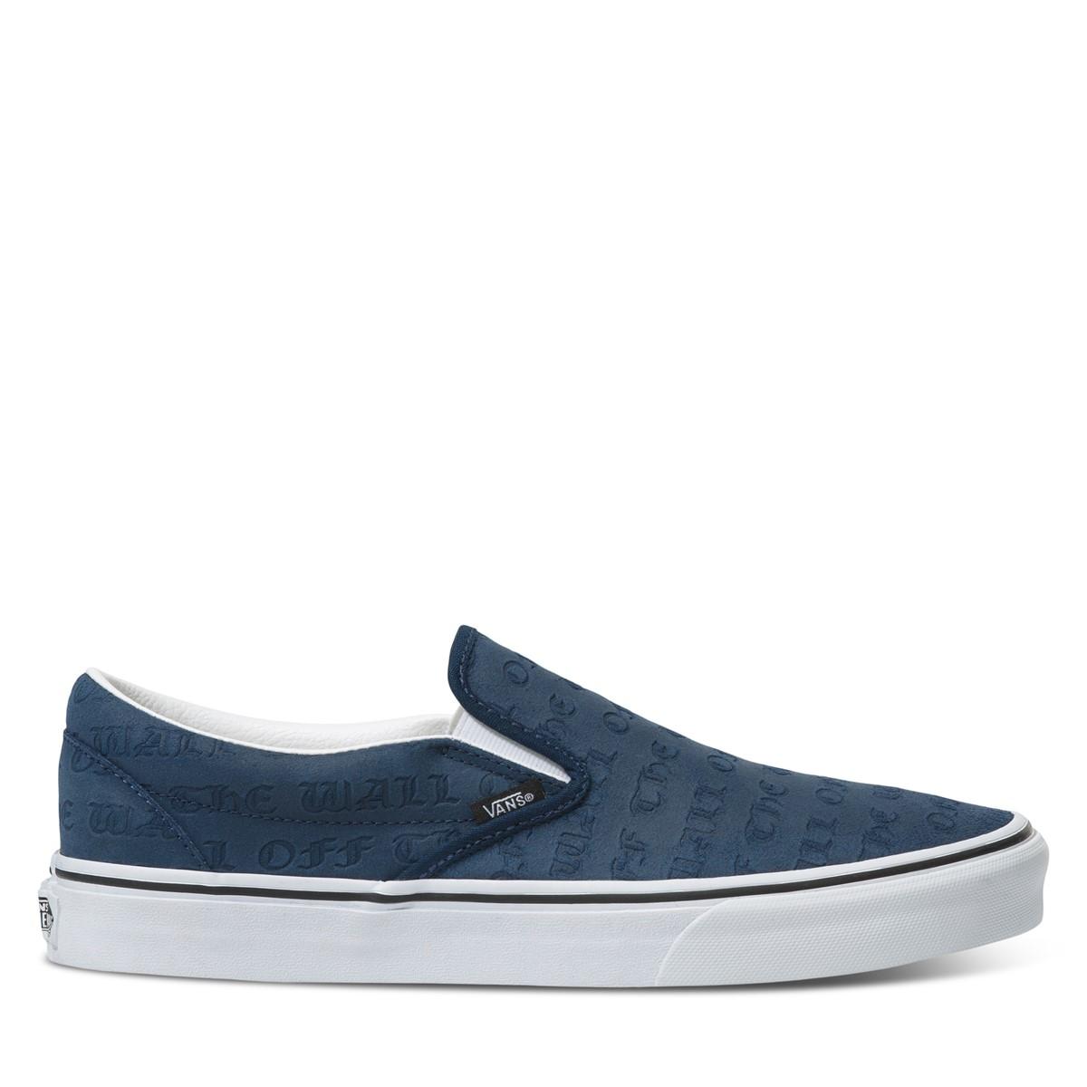 Men's Slip-On Deboss OTW Sneakers in Navy
