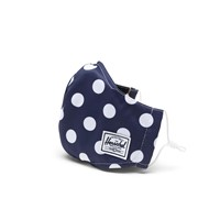 Classic Fitted Polka Dot Face Mask in Blue