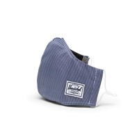 Classic Fitted Striped Face Mask in Blue