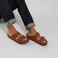 Sandales Arizona brun roux pour hommes