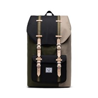 Little America Backpack in Black/Beige/Green