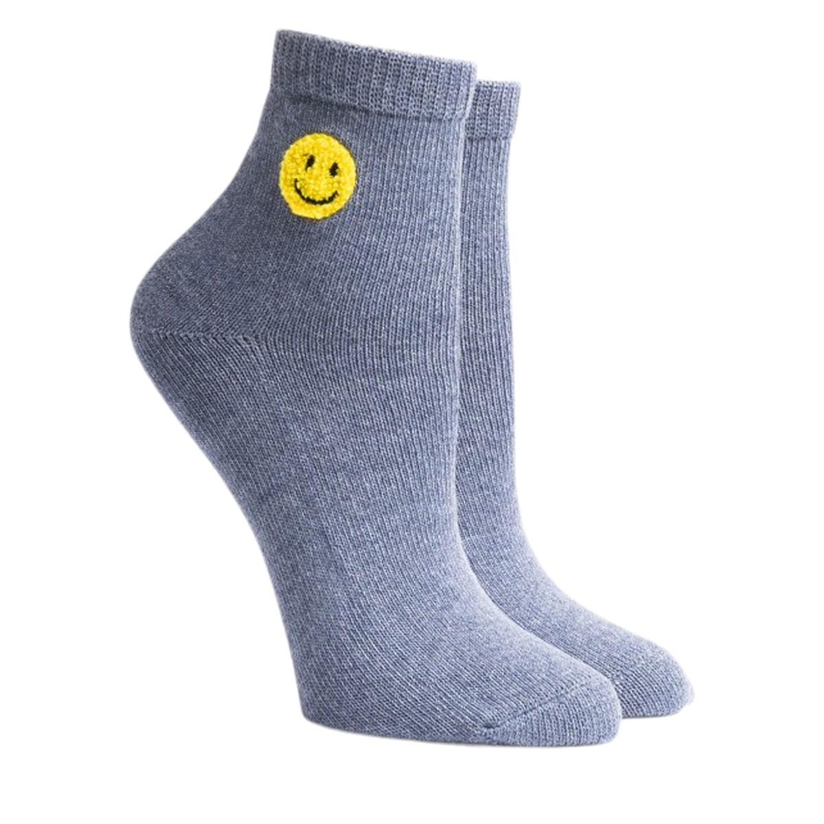 Women's Lucky Mid-Crew Socks in Purple