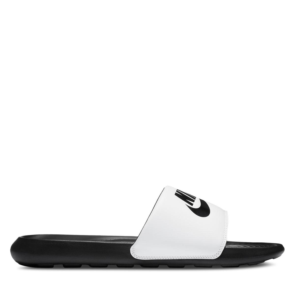 Men's Victori One Slides in White/Black