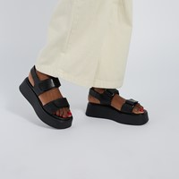 Women's Courtney Platform Sandals in Black