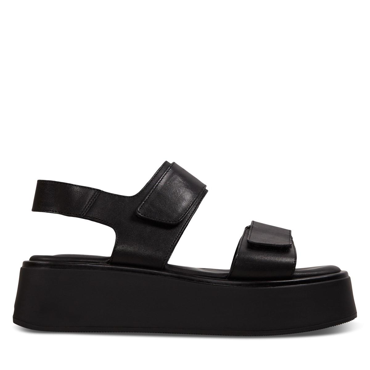 Women's Courtney Platform Sandals in Black
