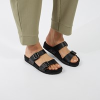 Women's Ibaka Slip-On Sandals in Black