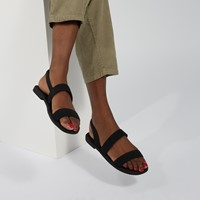 Women's Tillie Strap Sandals in Black