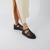 Women's Oriane Platform Sandals in Black