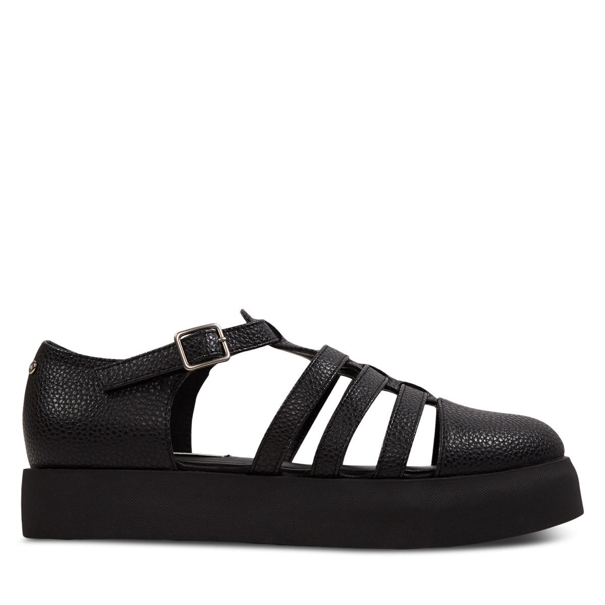 Sandales à plateforme Oriane noires pour femmes
