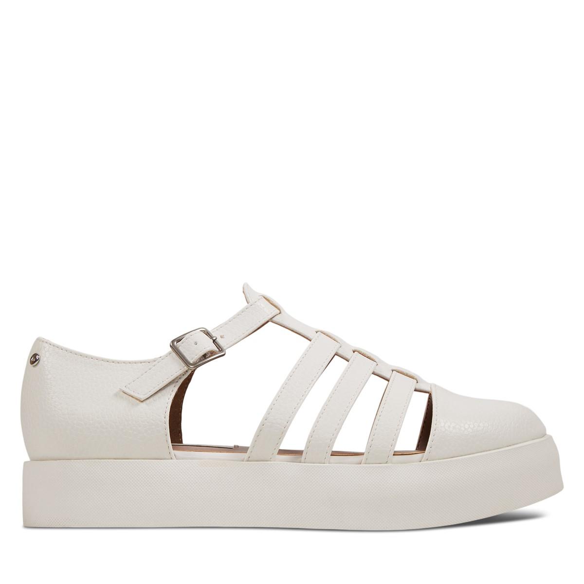 Sandales à plateforme Oriane blanches pour femmes