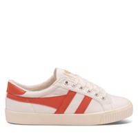 Women's Tennis Mark Cox Sneakers in White and Orange
