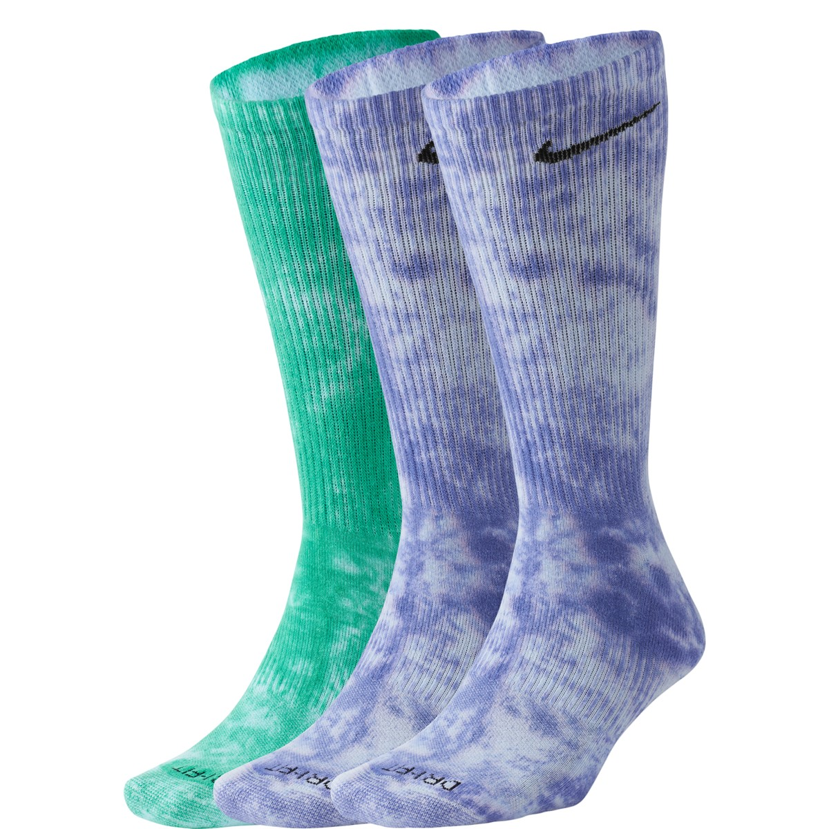 Two Pack Everyday Plus Cushion Crew Socks in Washed Purple/Turquoise
