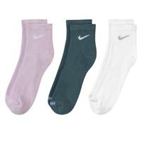 Paquet de trois paires de chaussettes à la cheville Everyday Plus Training lilas, vertes et blanches