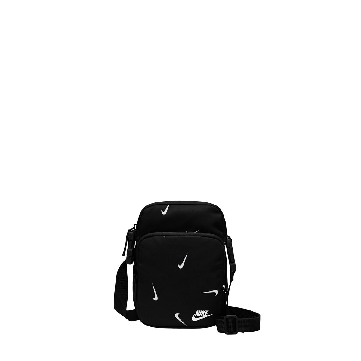 Heritage Branded Crossbody Bag in Black/White