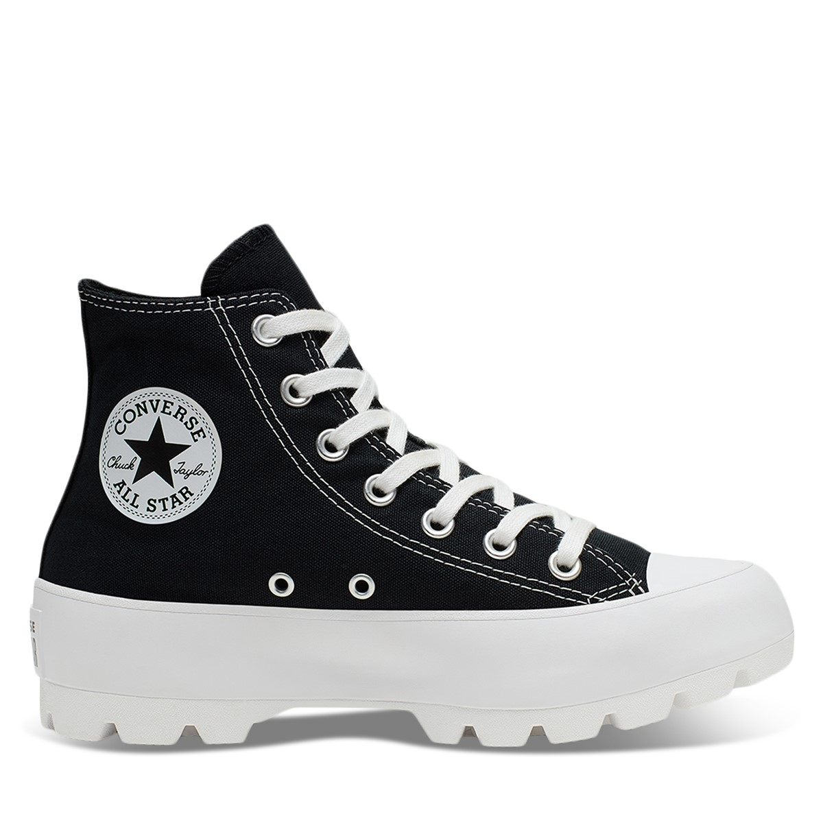 Women's Chuck Taylor All-Star Lugged Sneakers in Black/White