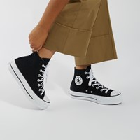 Women's Chuck Taylor All-Star Lift Sneakers in Black/White