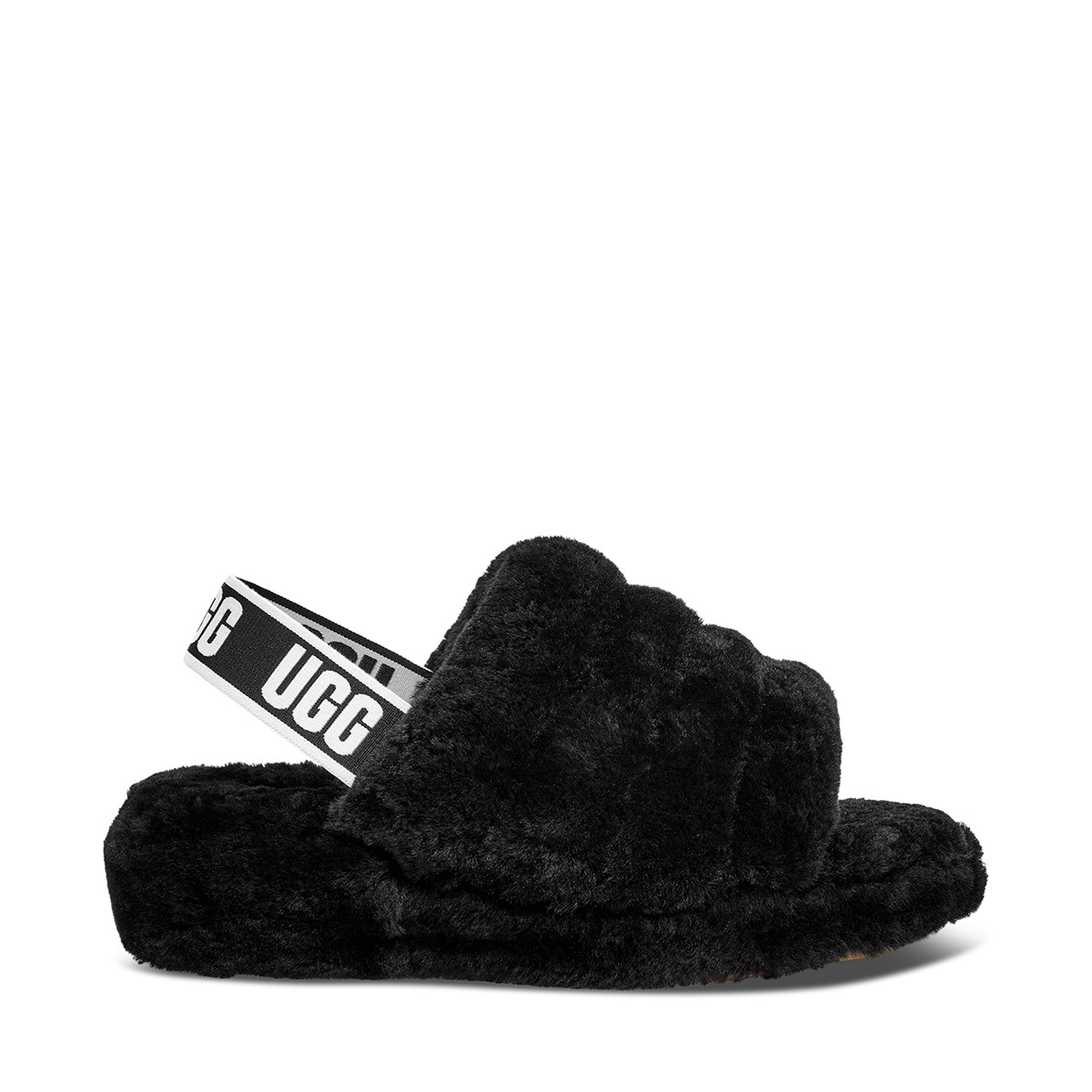 Women's Fluff Yeah Slides in Black