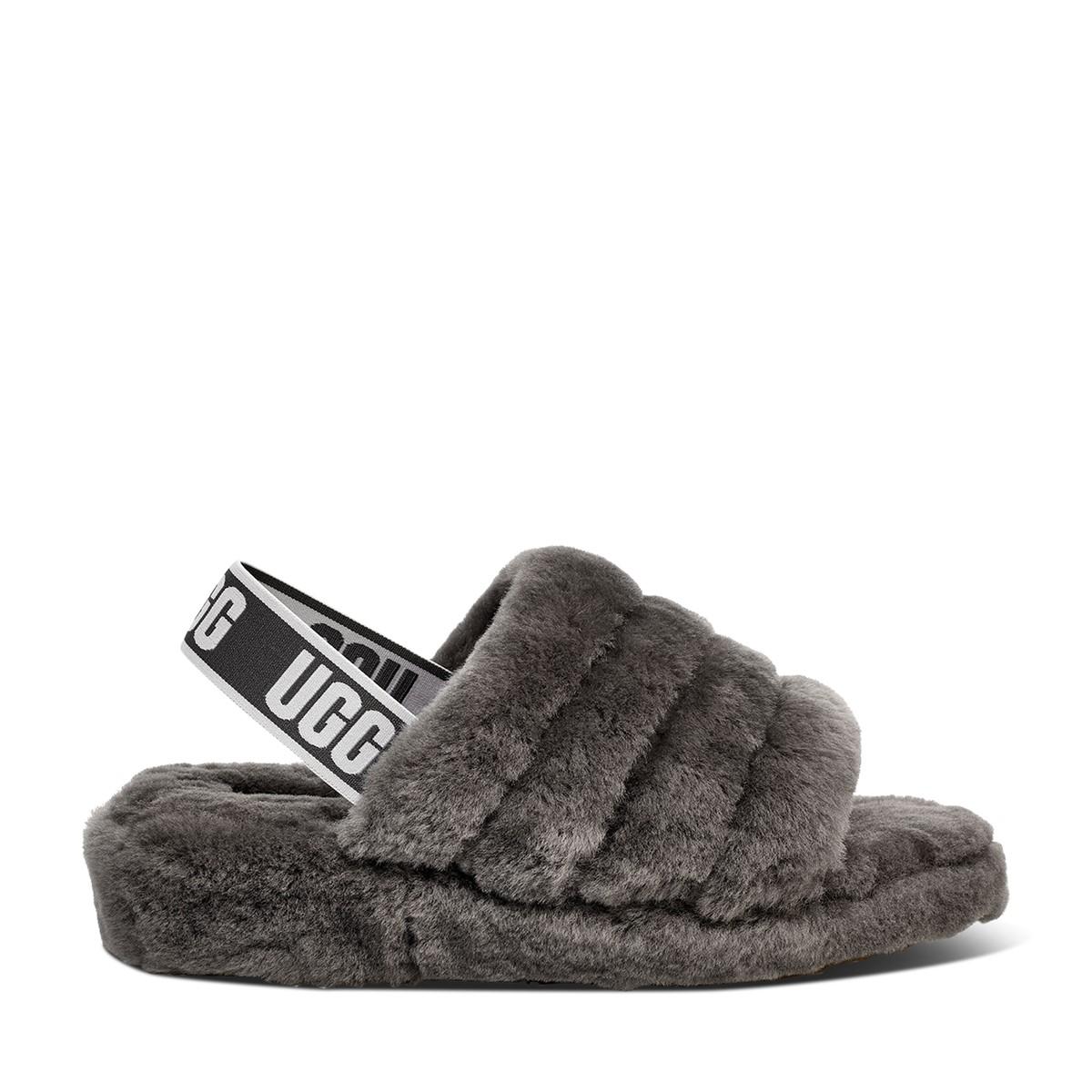 Women's Fluff Yeah Slides in Grey
