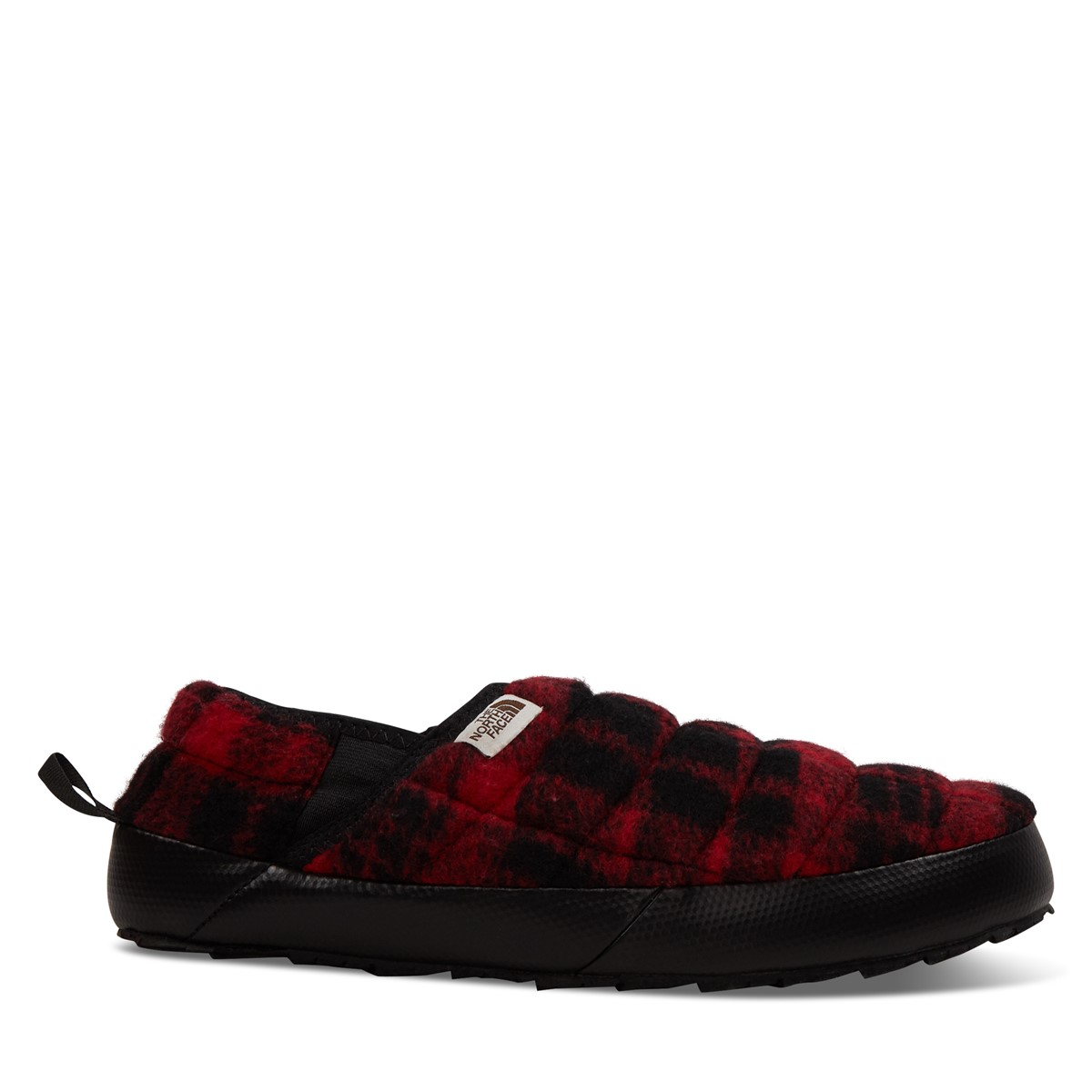 Men's Thermoball Traction Mule V Plaid Slippers in Red
