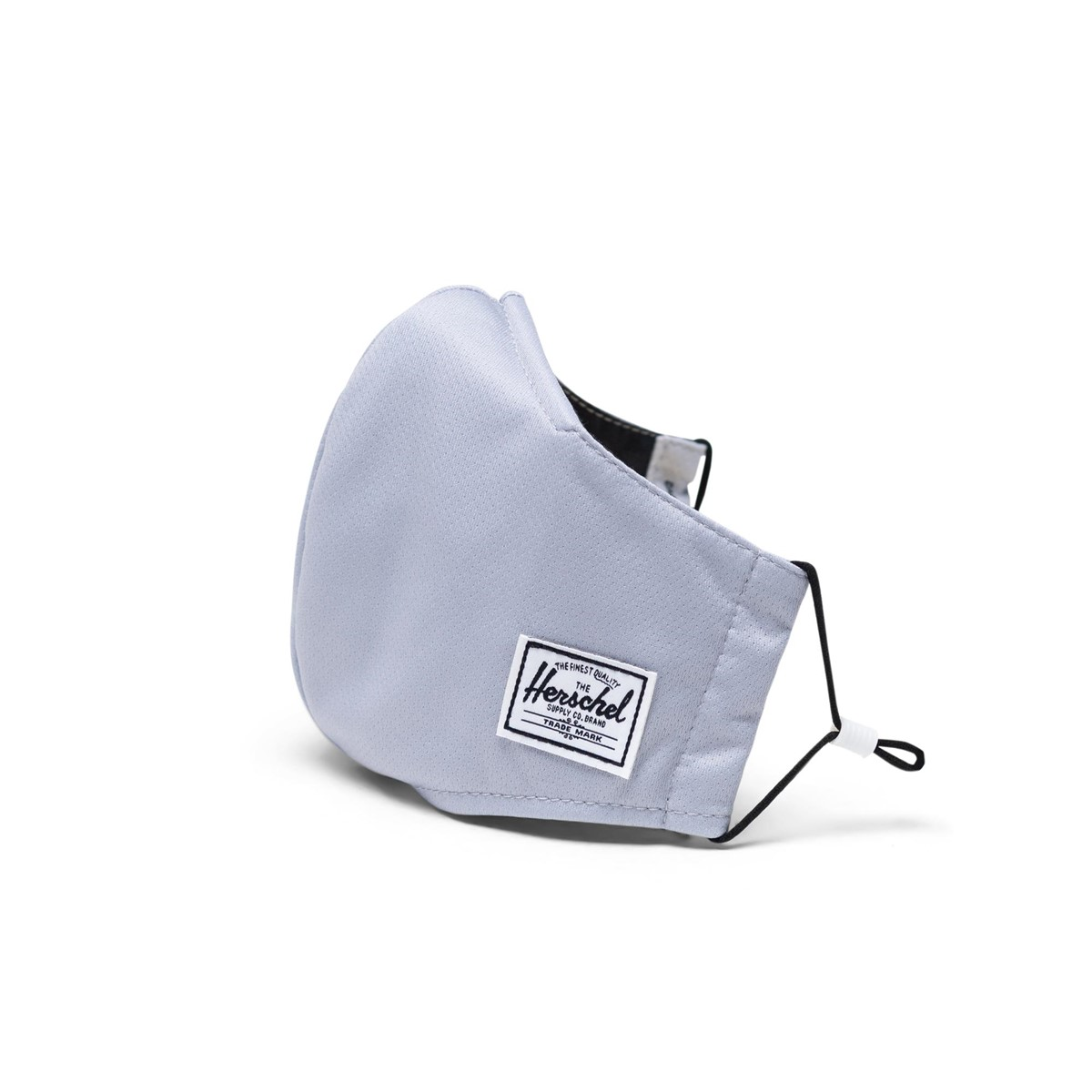 Classic Fitted Striped Face Mask in Light Grey