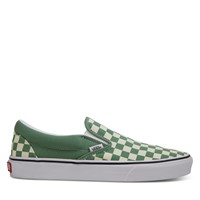 Checkerboard Classic Slip-Ons in khaki