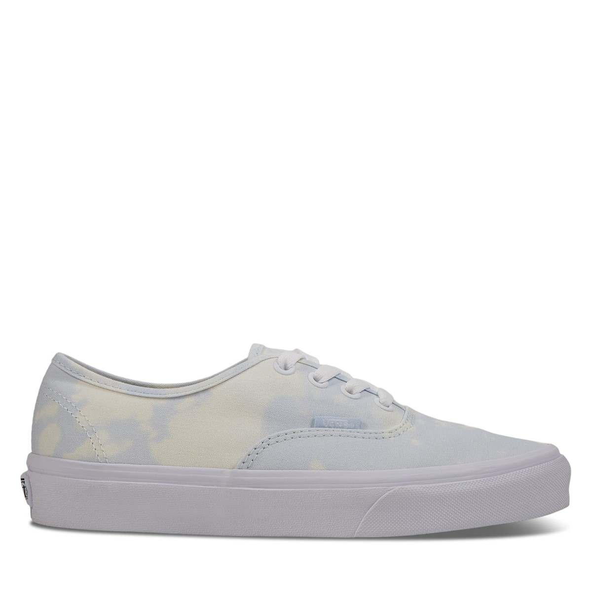 Women's Authentic Low-cut Sneakers in Beige and Blue Tie Dye