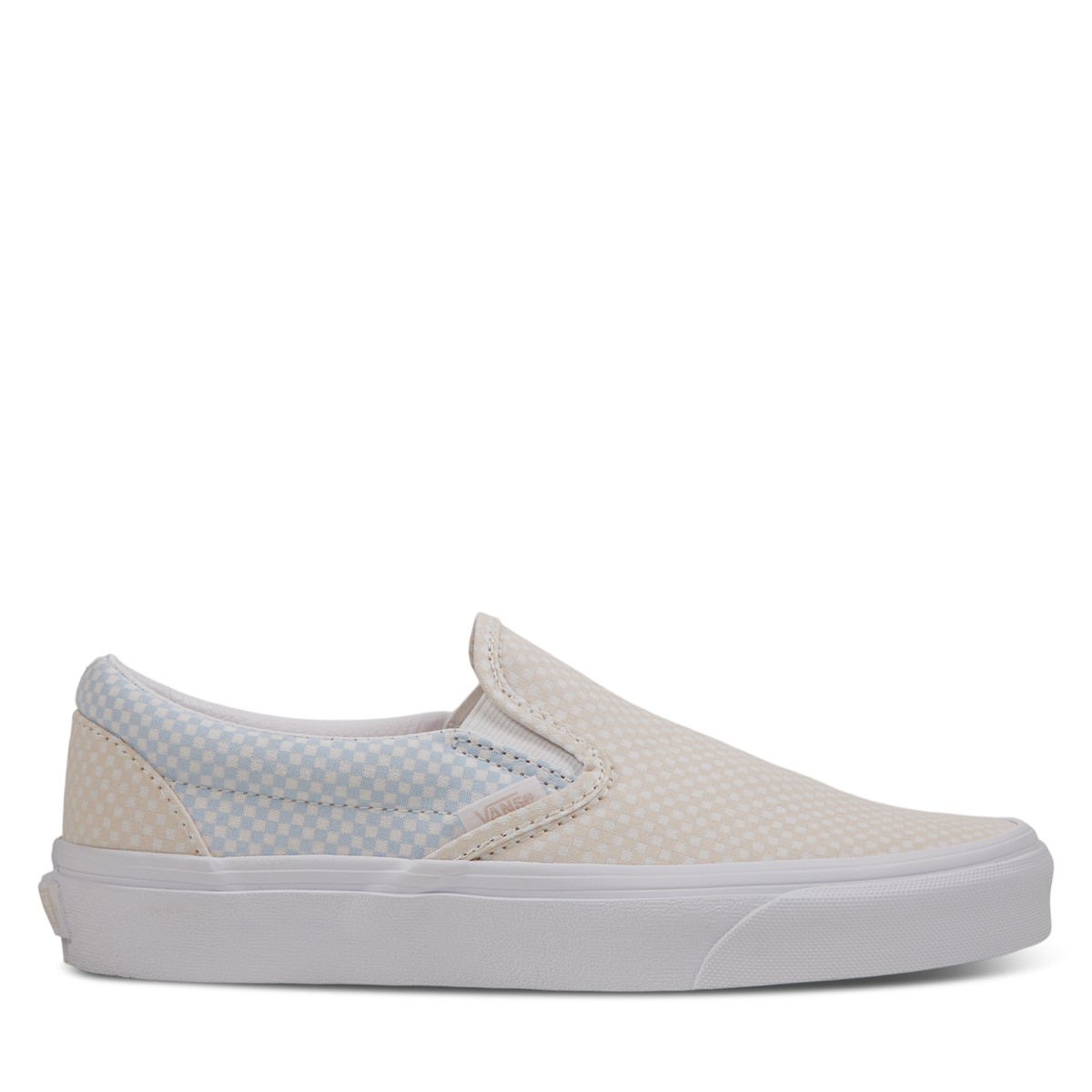 Women's Classic Slip-Ons Sneakers in Light Blue/Pink