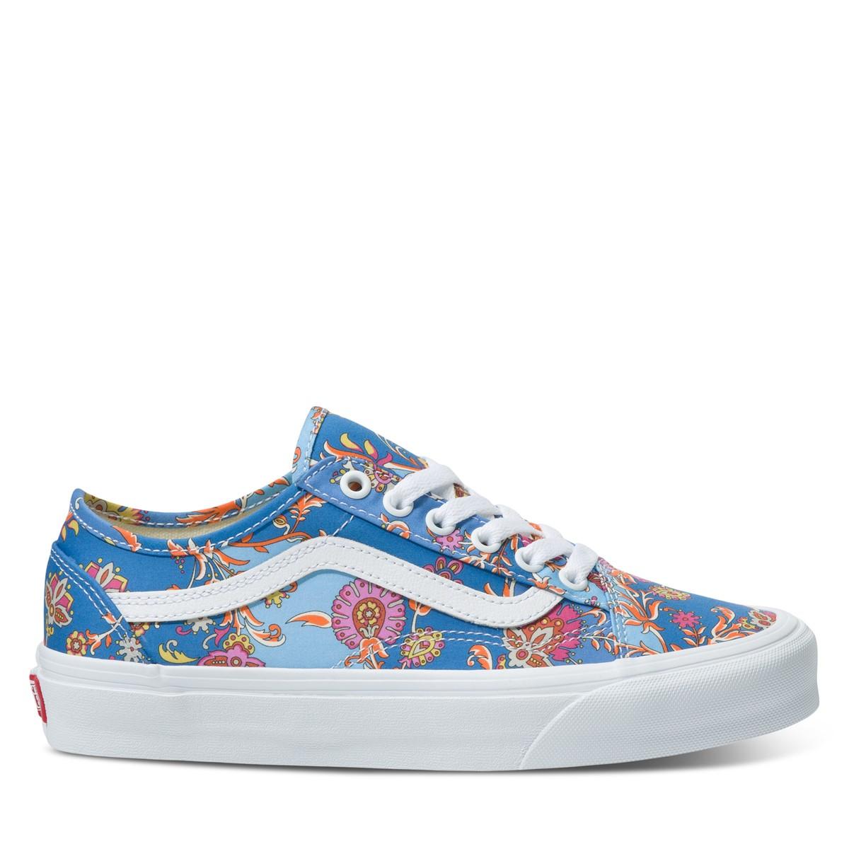 Women's Vans X Liberty Old Skool Floral Sneakers in Blue