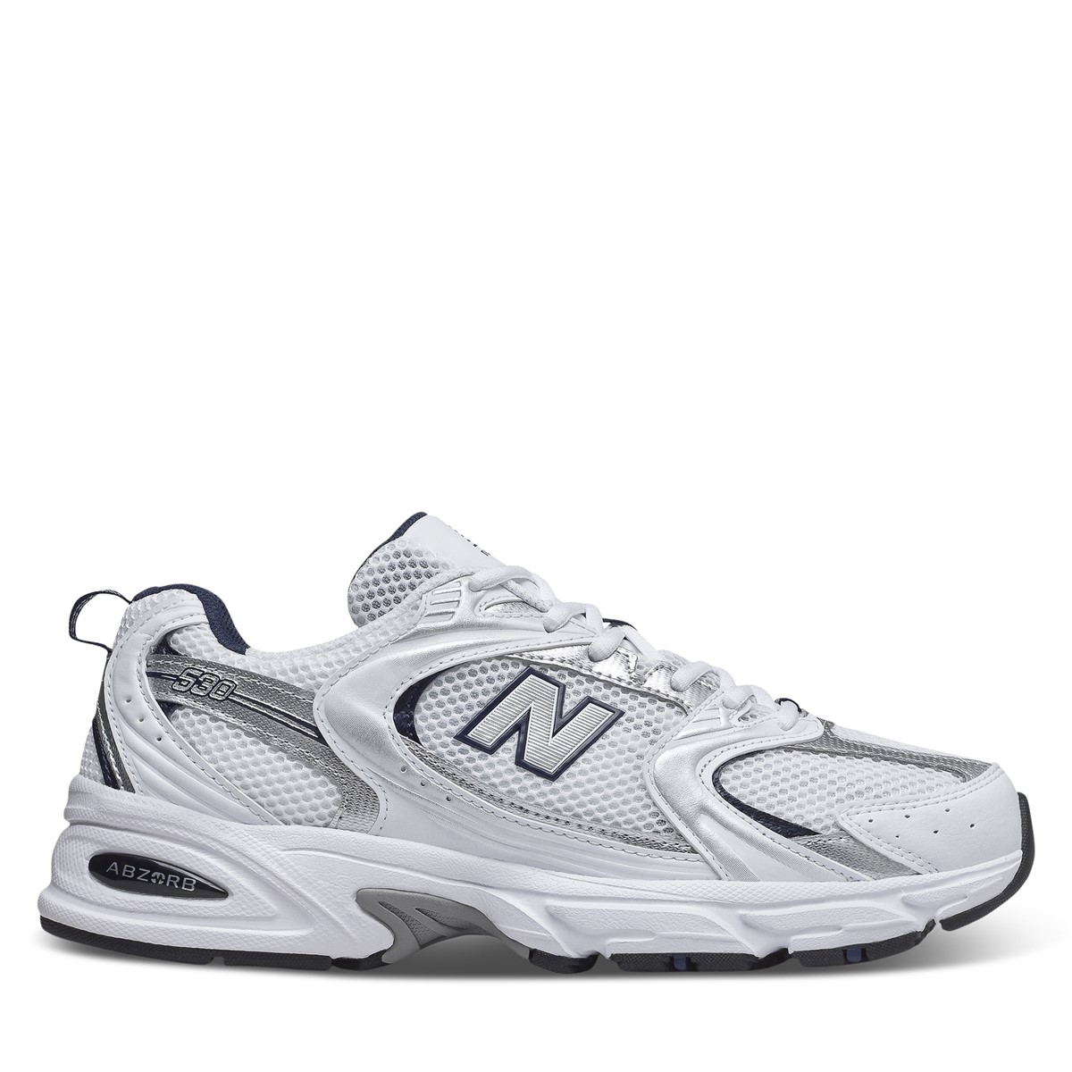 530 Sneakers in White/Grey