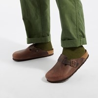 Men's Boston Clogs in Brown