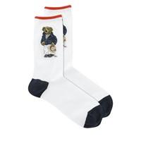 Women's Riviera Bear Socks in White