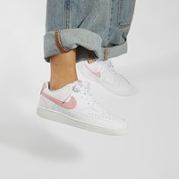 Women's Court Vision Low Sneakers in White/Pink