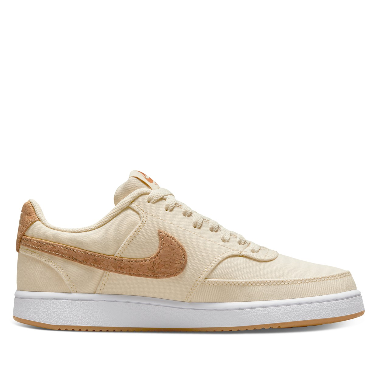 Women's Court Vision Low Sneakers in Beige/White