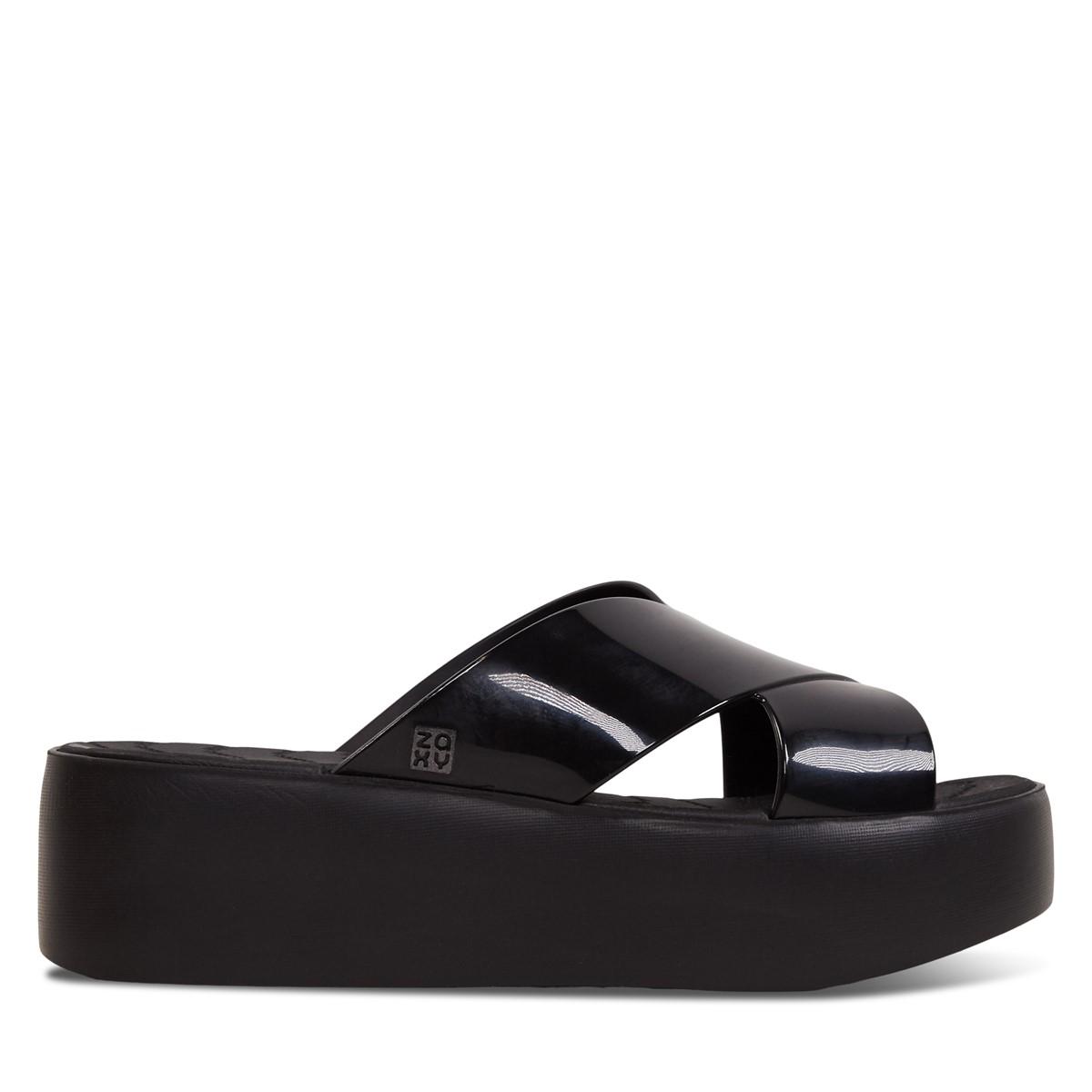 Women's 18095 Wonder Platform Sandals in Black