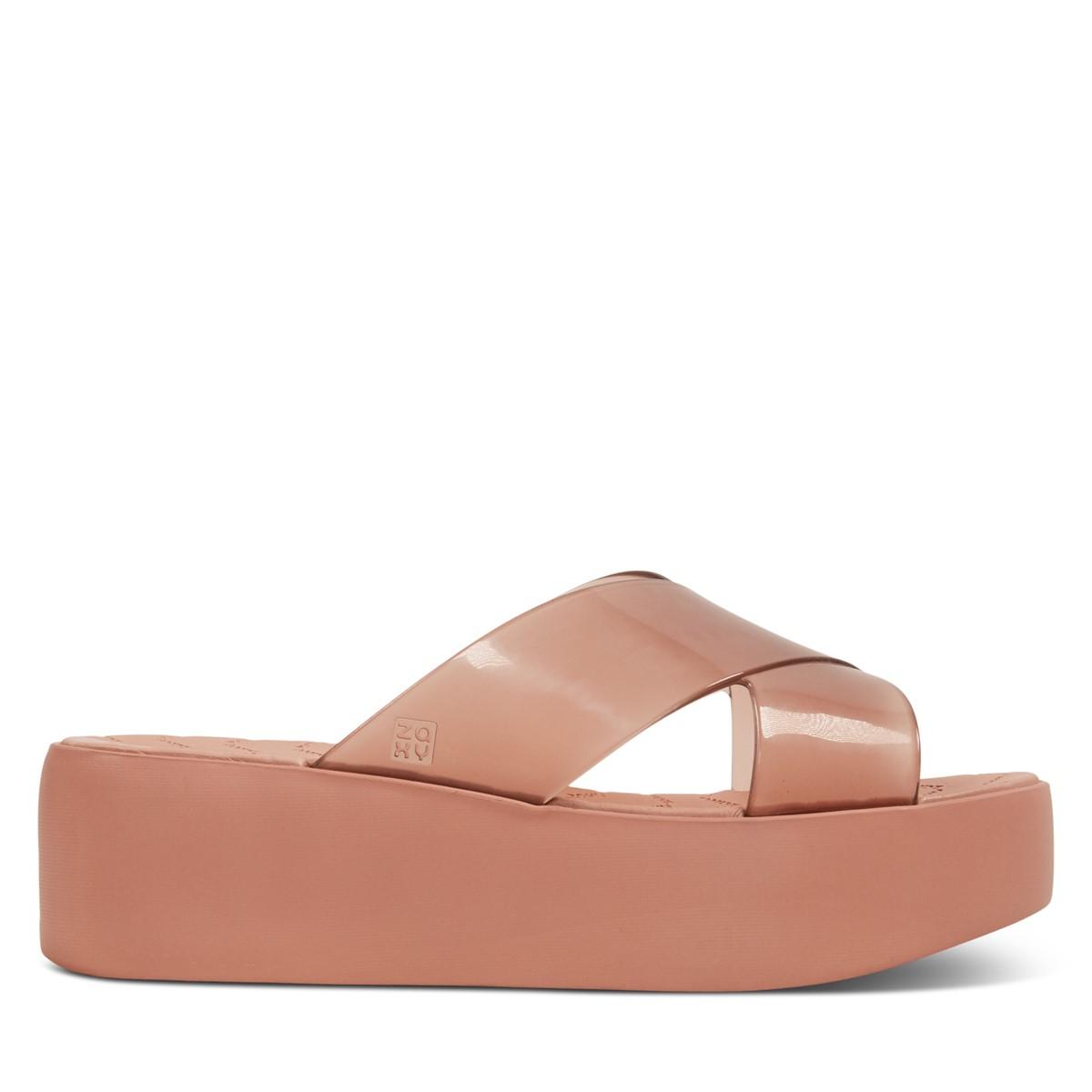 Sandales à plateforme 18095 Wonder rôse pâle pour femmes
