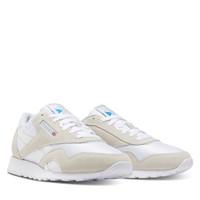 Men's Classic Nylon Sneakers in White/Beige