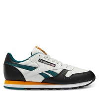 Men's Classic Leather Happy Camper Sneakers in Chalk/Black/Gold