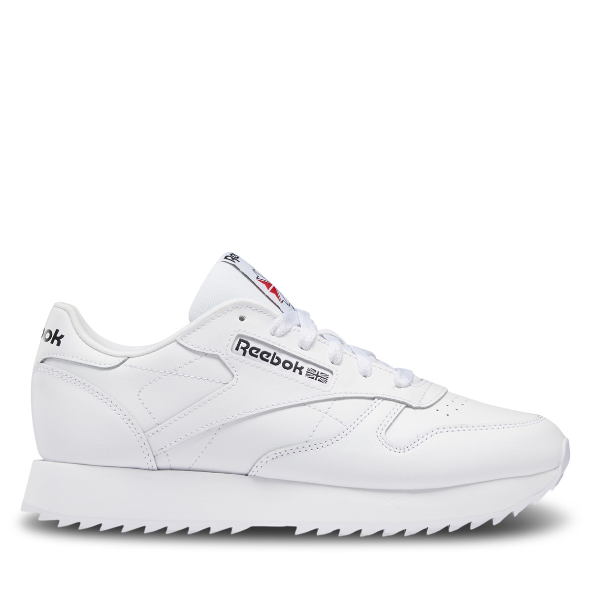 Women's Classic Leather Ripple Sneakers in White