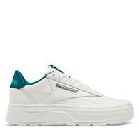 Women's Club C Double GEO Platform Sneakers in Chalk/Green/Blue
