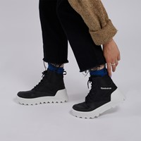 Women's Club C Cleated Mid High Top Sneakers in Black/White