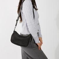 Annie Nylon Purse in Black