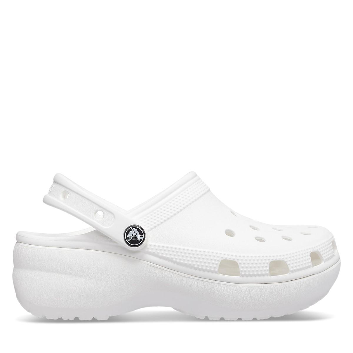 Women's Classic Platform Clogs in White