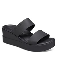 Women's Brooklyn Mid Wedge Slip-On Sandals in Black