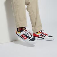Baskets Forum Low blanc, jaune, rouge et noir pour hommes
