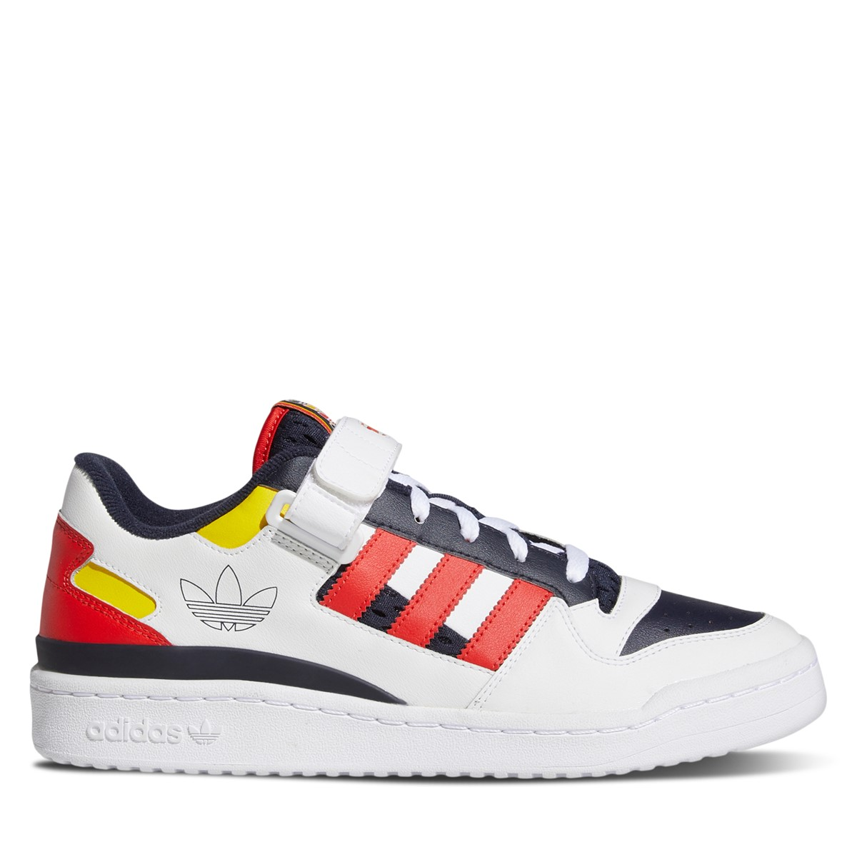Men's Forum Low Sneakers in White/Yellow/Red/Black